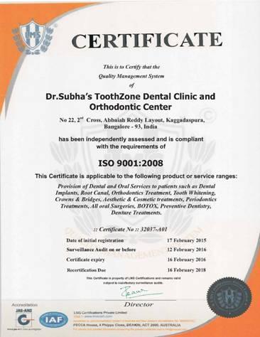 Dr.Subha\'s TOOTHZONE Dental Studio, Cosmetic Treatments in bangalore ...